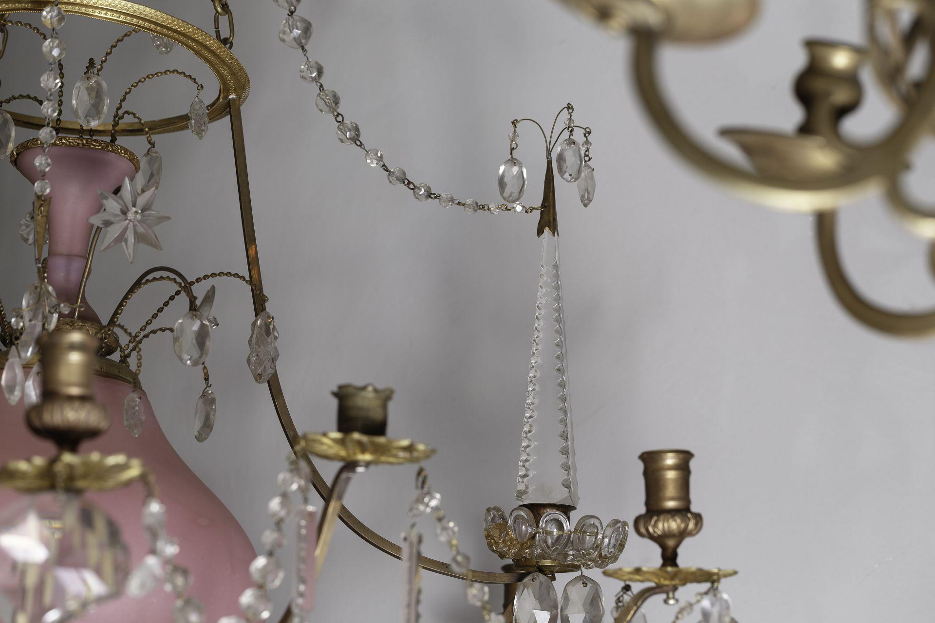 Fragment of chandelier, the 1770s–1790s, the National M. K. Čiurlionis Museum of Art, Tt-6574. Photo by Rimantė Pranciška Ropytė, 2013