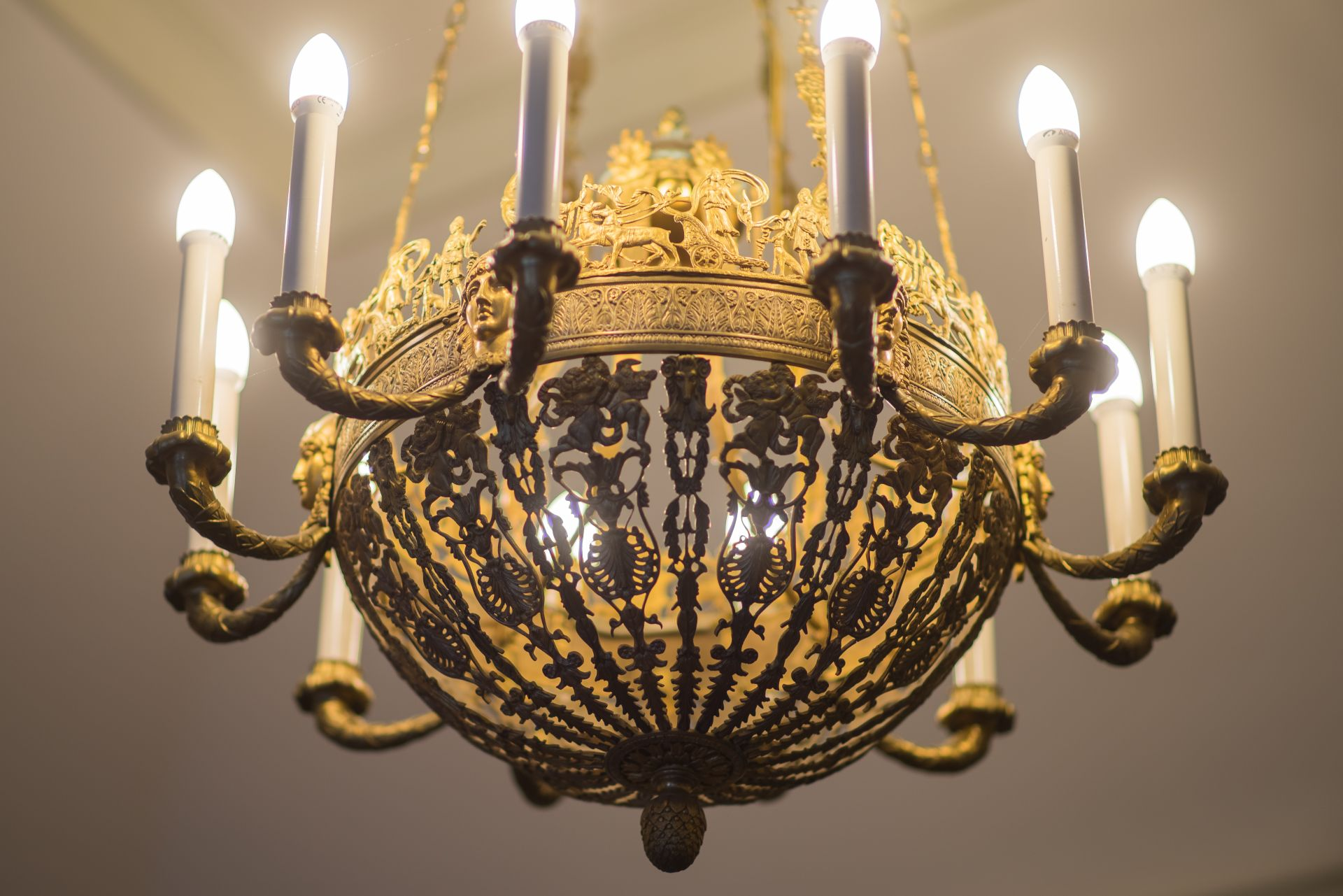 Fragment of chandelier, 1800–1829, Archdiocese of Vilnius. Photo by Povilas Jarmala, 2017