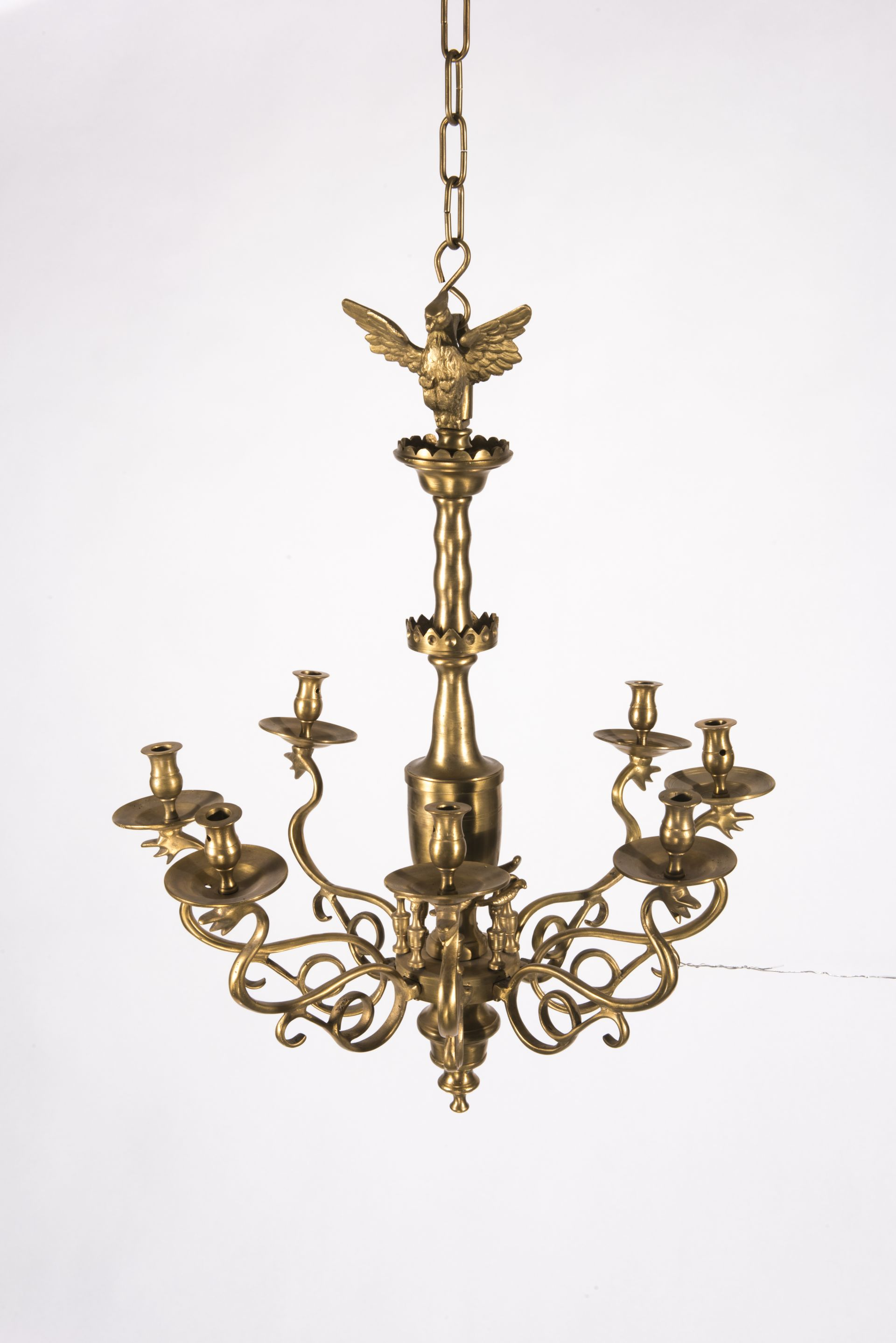 Chandelier, 1587–1649 (?) / 1850–1945 (?), National Museum of Lithuania, IM-13029. Photo by Kęstutis Stoškus, 2017