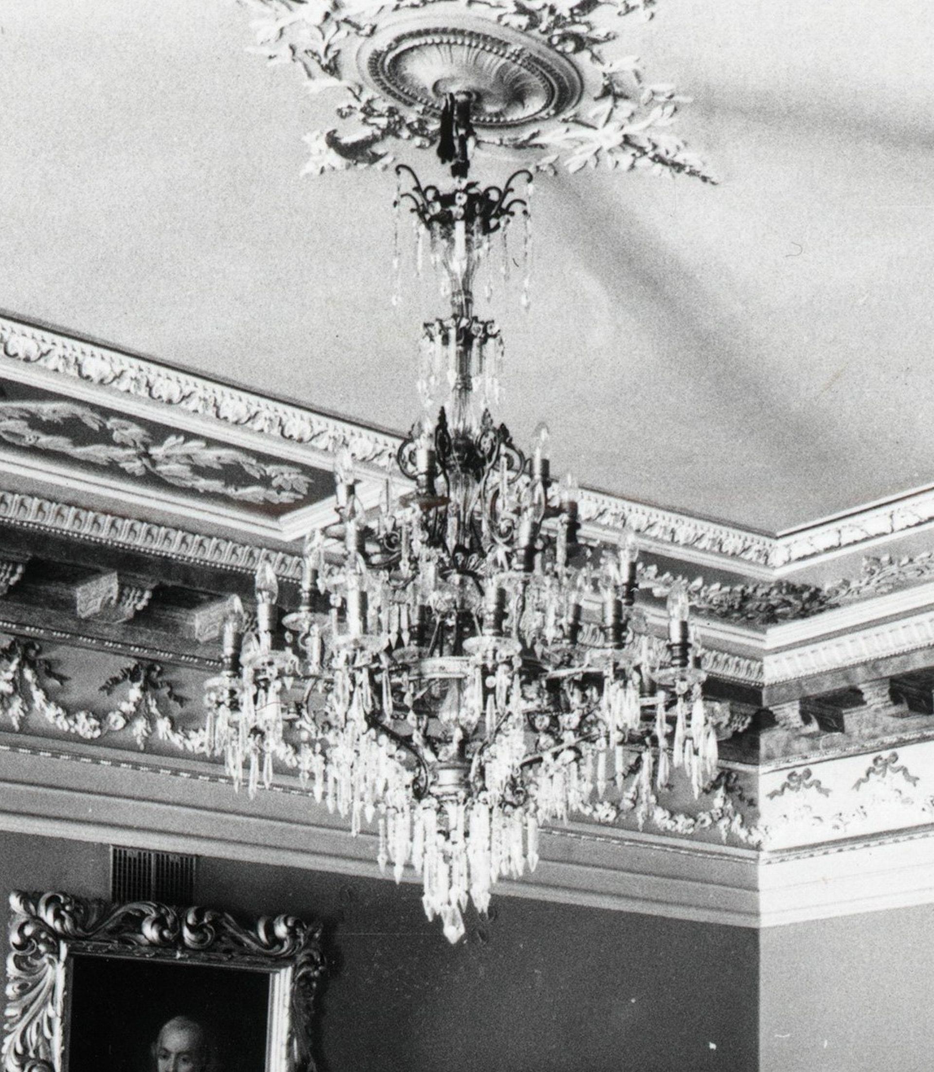 Chandelier at the Verkiai Manor, 1850-1919, Lithuanian National Museum, IM-5097. Photo by Mečislovas Sakalauskas, 1976, in: Lietuvos centrinis valstybės archyvas, P-29272
