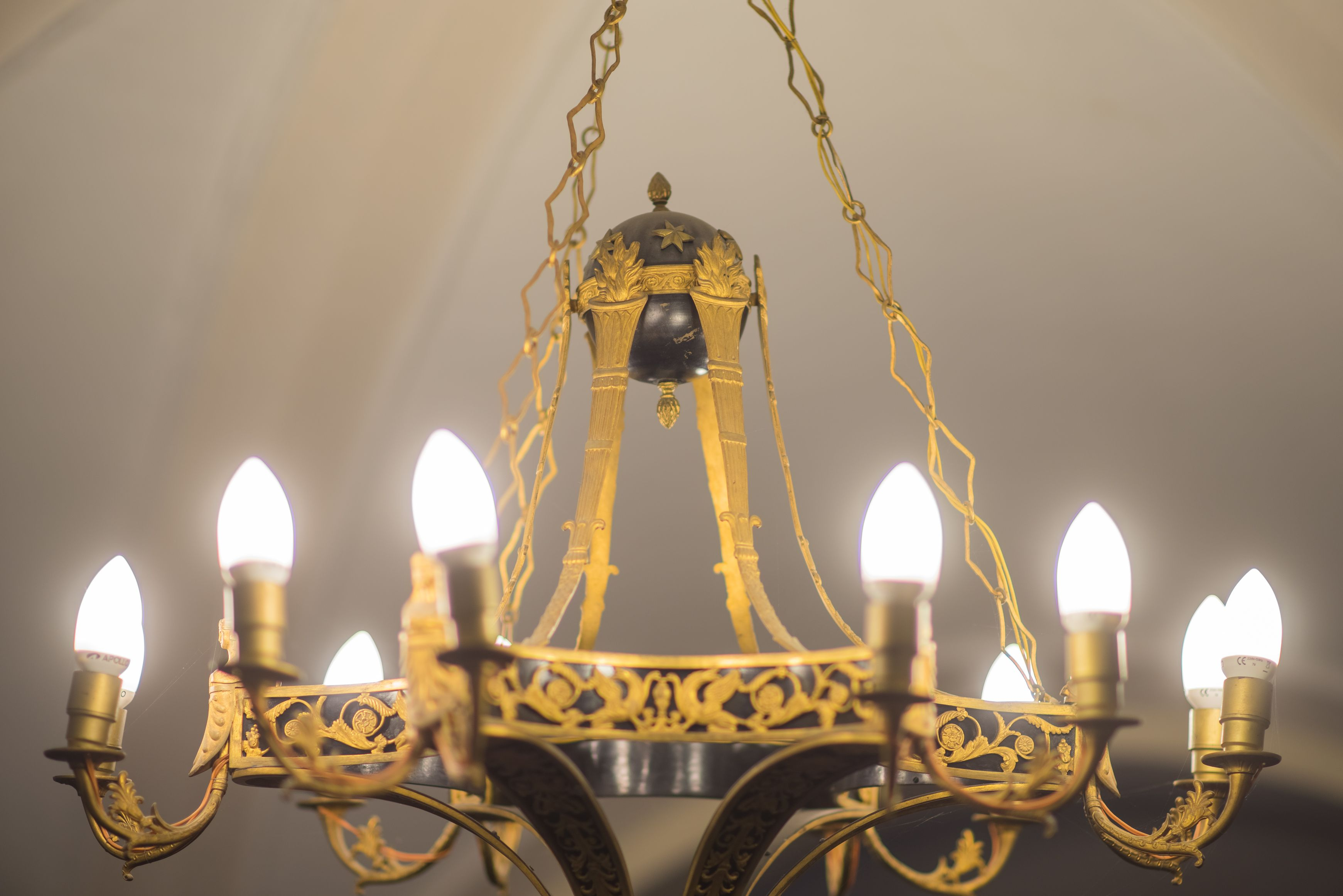 Fragment of chandelier, 1800–1849, Archdiocese of Vilnius. Photo by Povilas Jarmala, 2017