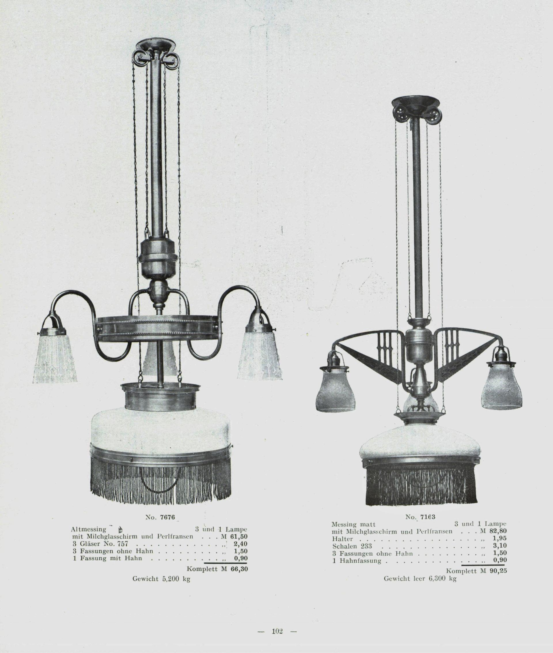 Chandeliers from the catalogue Beleuchtungskörper GmbH, t. 1–2, Berlin, 1910, in: Lietuvos mokslų akademijos Vrublevskių biblioteka, Retų spaudinių skyrius, A851