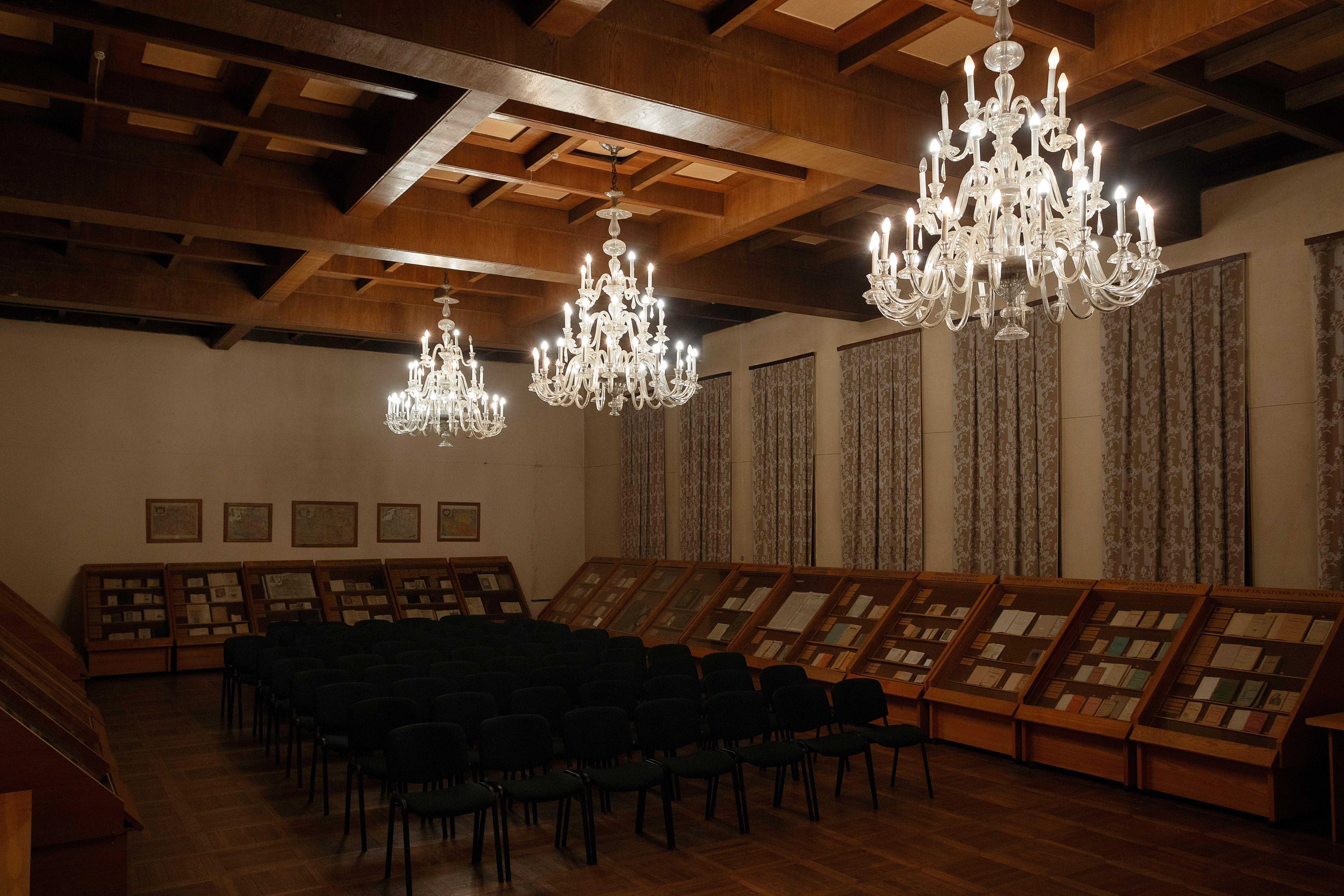 Chandeliers, 1938, Kaunas County Public Library. Photo by Povilas Jarmala, 2019