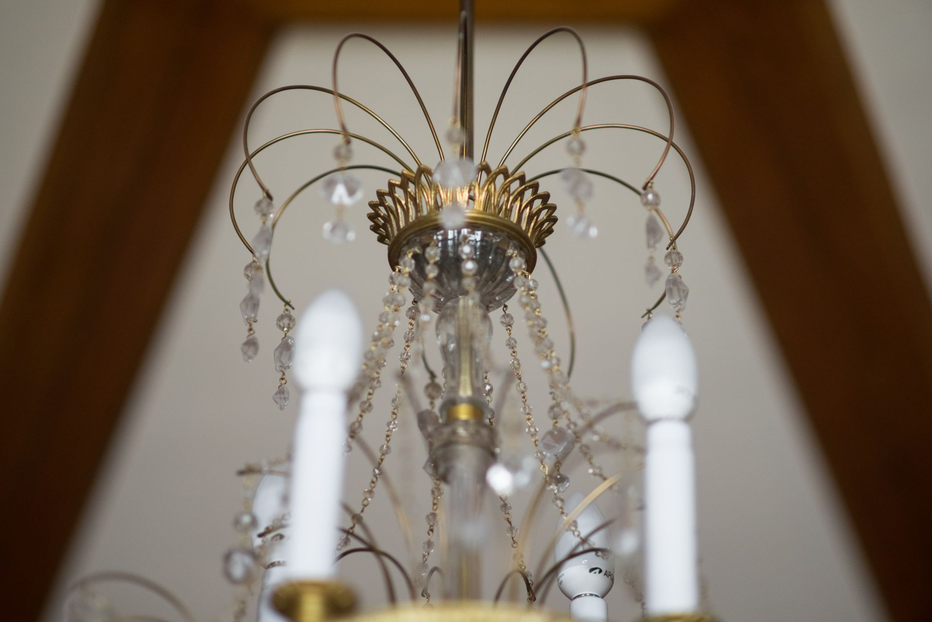 Fragment of chandelier, 1900–1929, Archdiocese of Vilnius. Photo by Povilas Jarmala, 2017