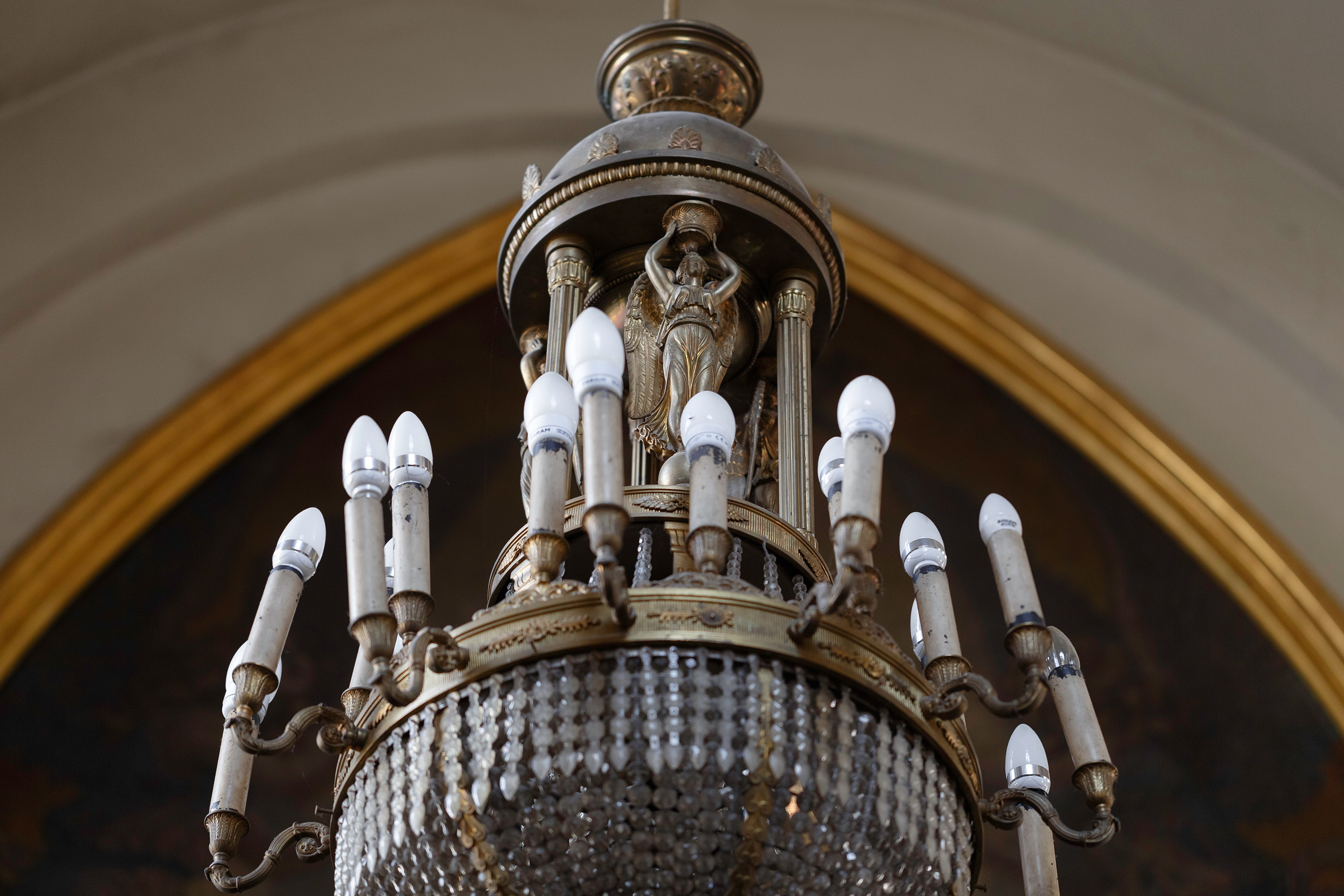 A fragment of the chandelier, 1925, the church of the Assumption of the Blessed Virgin Mary (Vytautas the Great) in Kaunas. Photo by Povilas Jarmala, 2019