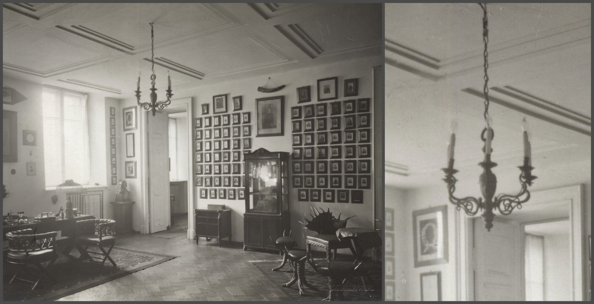 Tadeusz Wróblewski's office. Phot. Jan Bułhak, 1932, from: The Wroblewski  Library of the Lithuanian Academy of Sciences, Rare Books Department SFg-2402/4/22