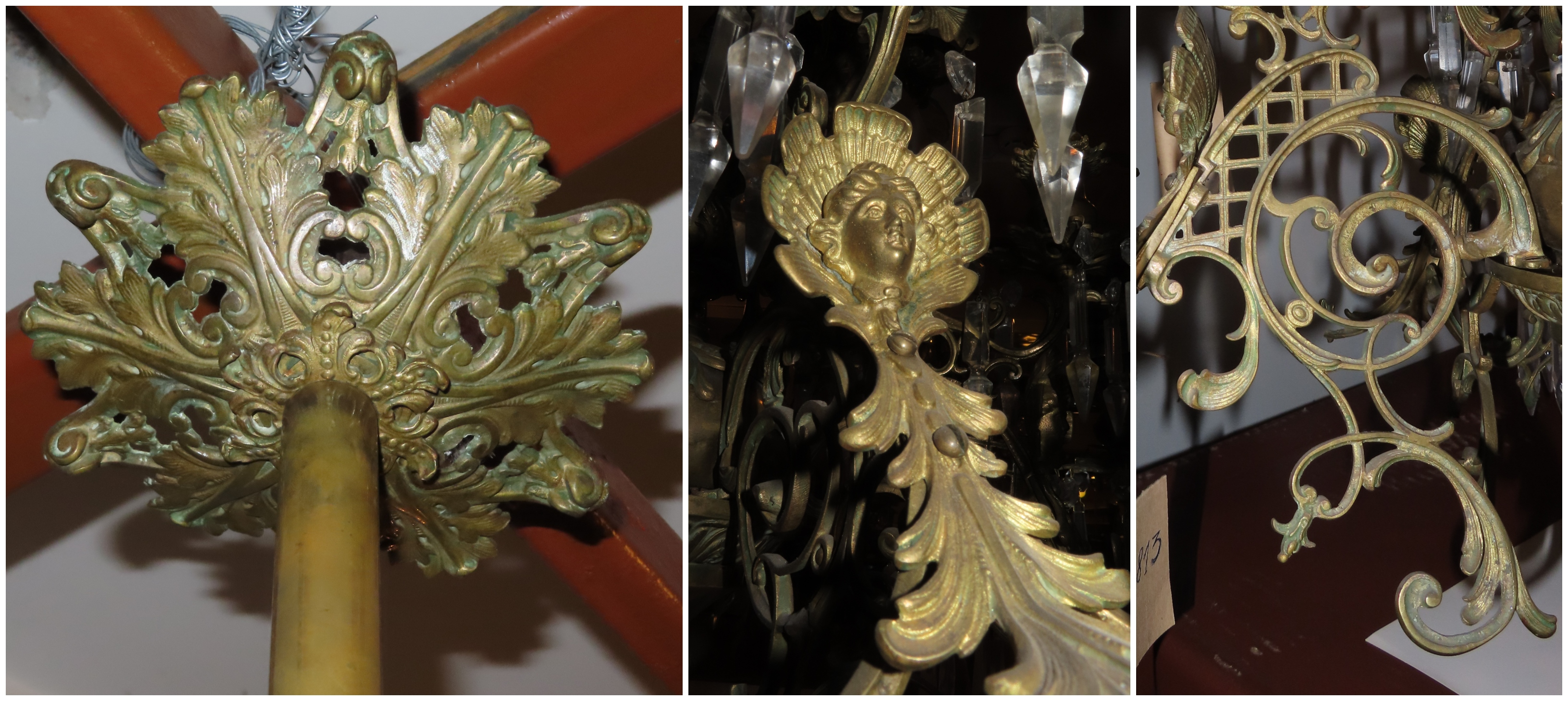 A fragment of the chandelier, the 2nd half of the 19 c., the National M. K. Čiurlionis Museum of Art, Tt-13813. Photo by Alantė Valtaitė-Gagač, 2019