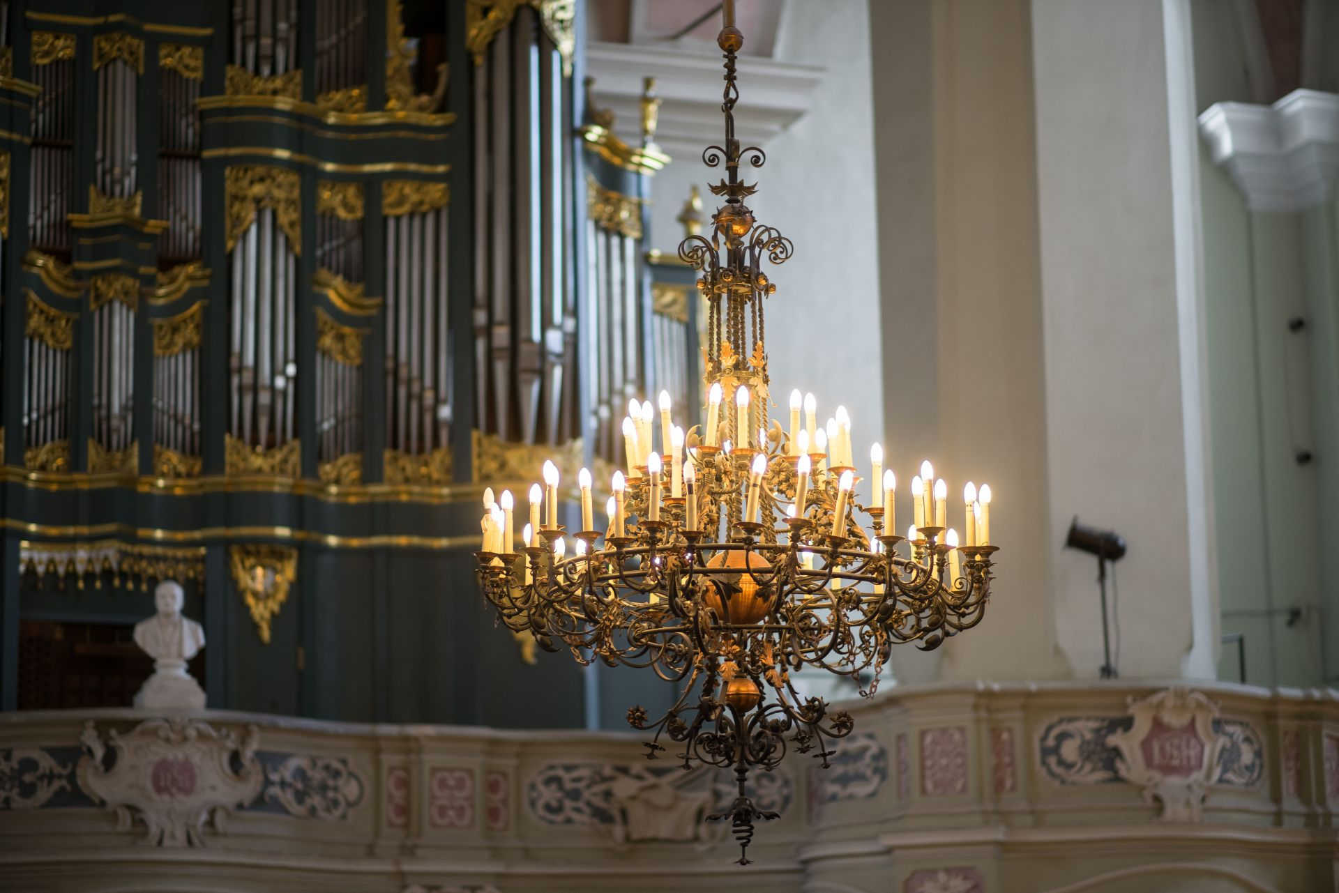Chandelier at the Church of John the Baptist and St. John the Apostle and Evangelist in Vilnius. Photo by Povilas Jarmala, 2017