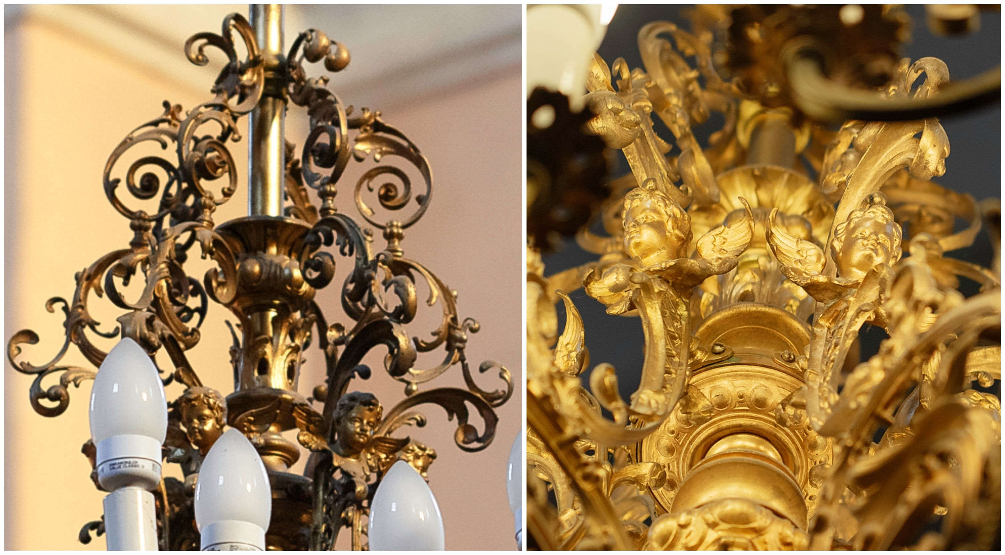 A fragment of the chandelier, the 1880s–1890s, the church of the Holy Cross (Carmelitian) in Kaunas. Photo by Povilas Jarmala, 2019